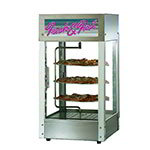 "Star HFD-1-CR 240 Humidified Display Cabinet w/ 1-Door & 12"" Pizza Rack, Stainless, 240/1"