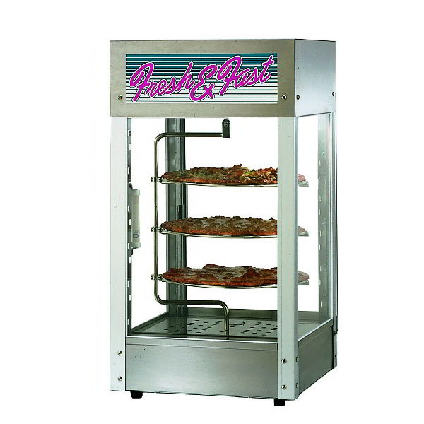 """Star HFD-1-CR 240 Humidified Display Cabinet w/ 1-Door & 12"""" Pizza Rack, Stainless, 240/1"""