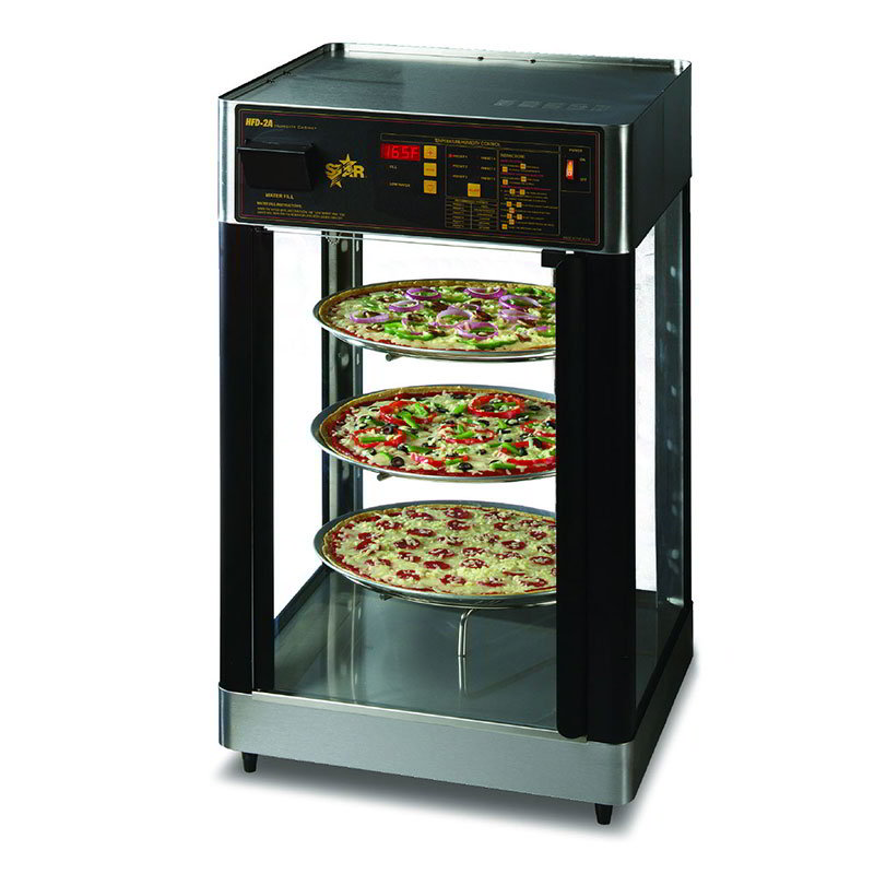 Star HFD2ACR Humidified Display Cabinet, 3-Tier Revolving Circle Rack