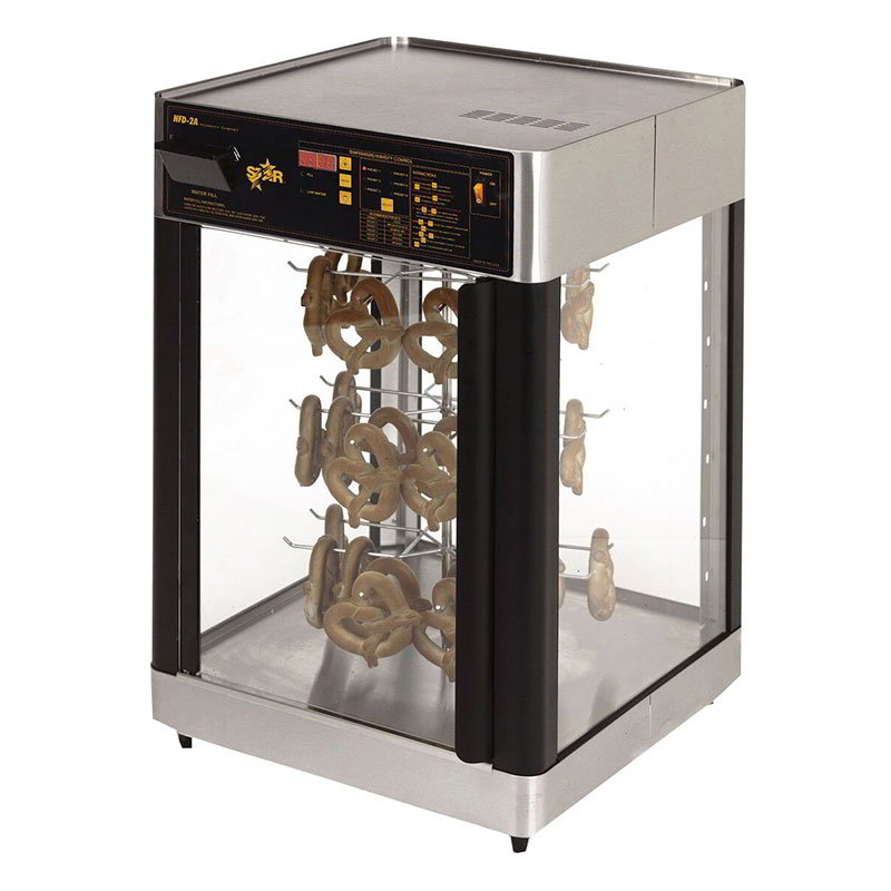 Star HFD2AP Humidified Cabinet, Pretzel Rack, 21-1/8 x 22.75-in, 1-Door