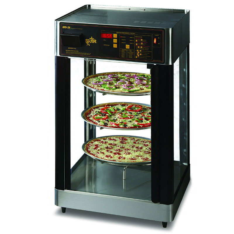 "Star HFD2APTCR Humidified Cabinet, Pizza Rack, 21-1/8 x 22.75"", 2-Doors"