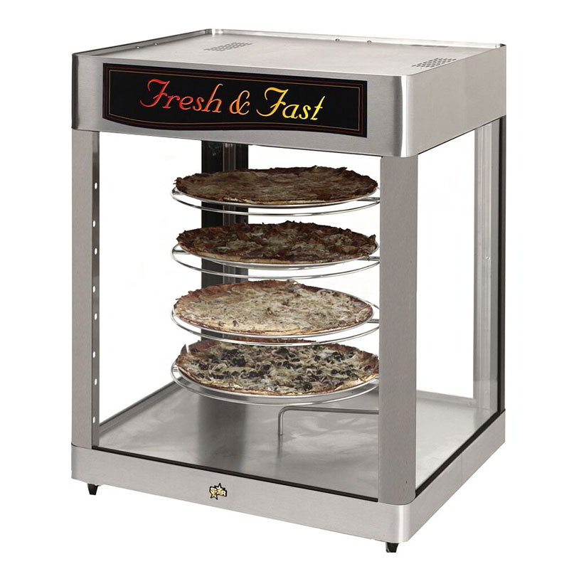 Star HFD3ACR Humidified Display Cabinet, 4-Tier Revolving Circle Rack