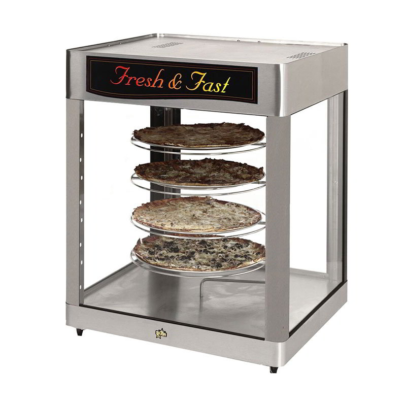 Star HFD3APTCR Humidified Cabinet, Pass/See-Thru, 4-Tier Circle Rack