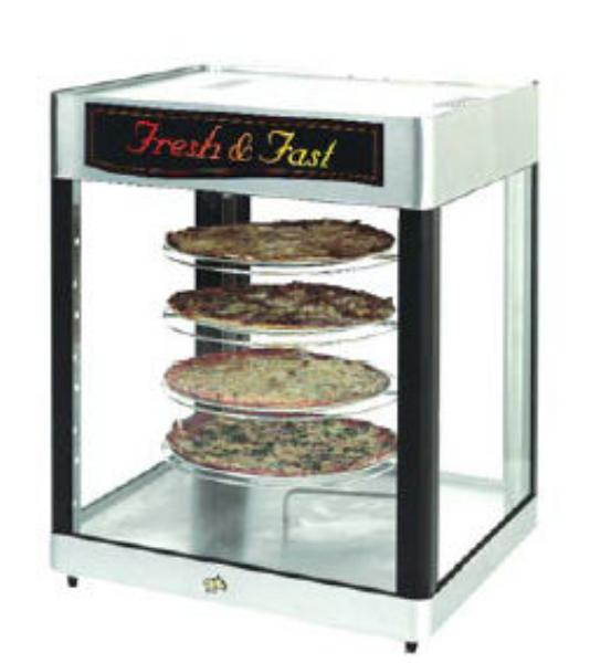 Star HFD2APTP Humidified Display Cabinet Pass/See-Thru Pretzel Rack 2 Door Restaurant Supply
