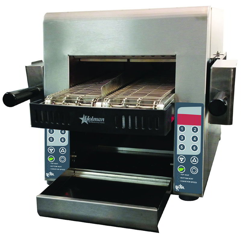 "Star IRCSE2-SB 208/240 Split-Belt Conveyor Toaster - (2)5"" Wide Belts, Stainless 208-240v"