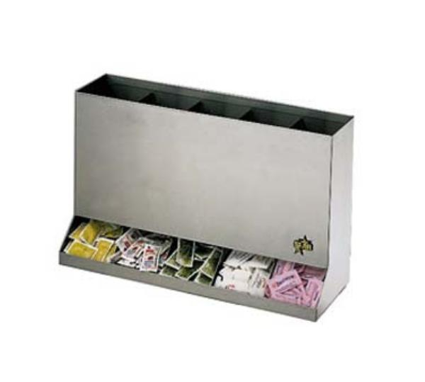 Star Manufacturing PCD5 Self-Contained Portion Pack Dispenser, 5 Slots, For Packets