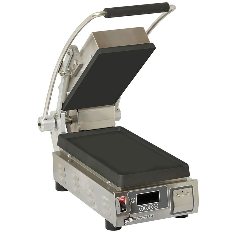 Star PST7IE Commercial Panini Press w/ Cast Iron Smooth Plates, 120v