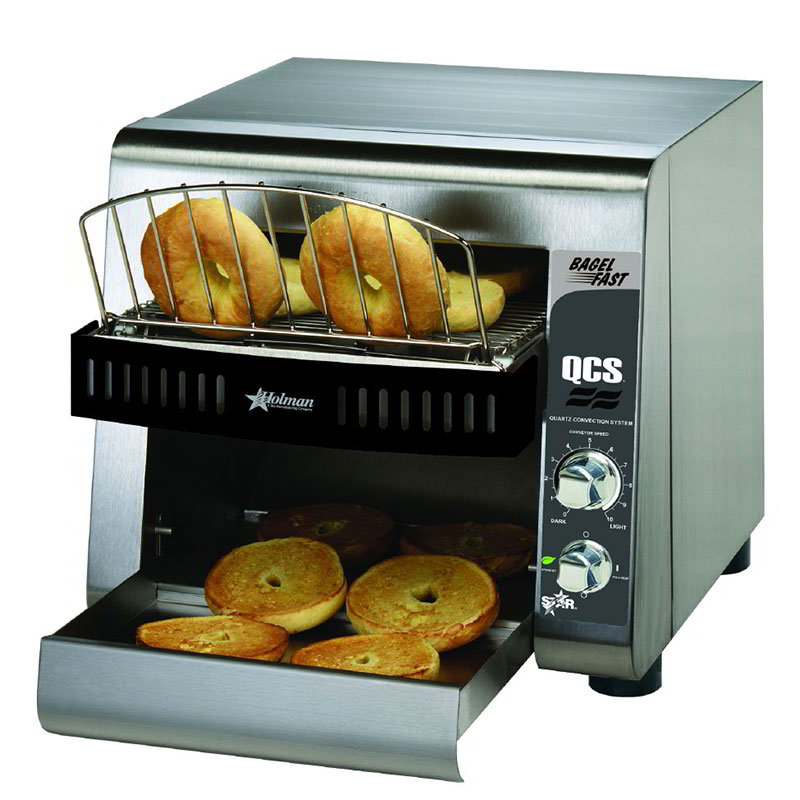 Star QCS1500B Compact Horizontal Bagel Conveyor Toaster, 500-Halves Per Hour, 120v