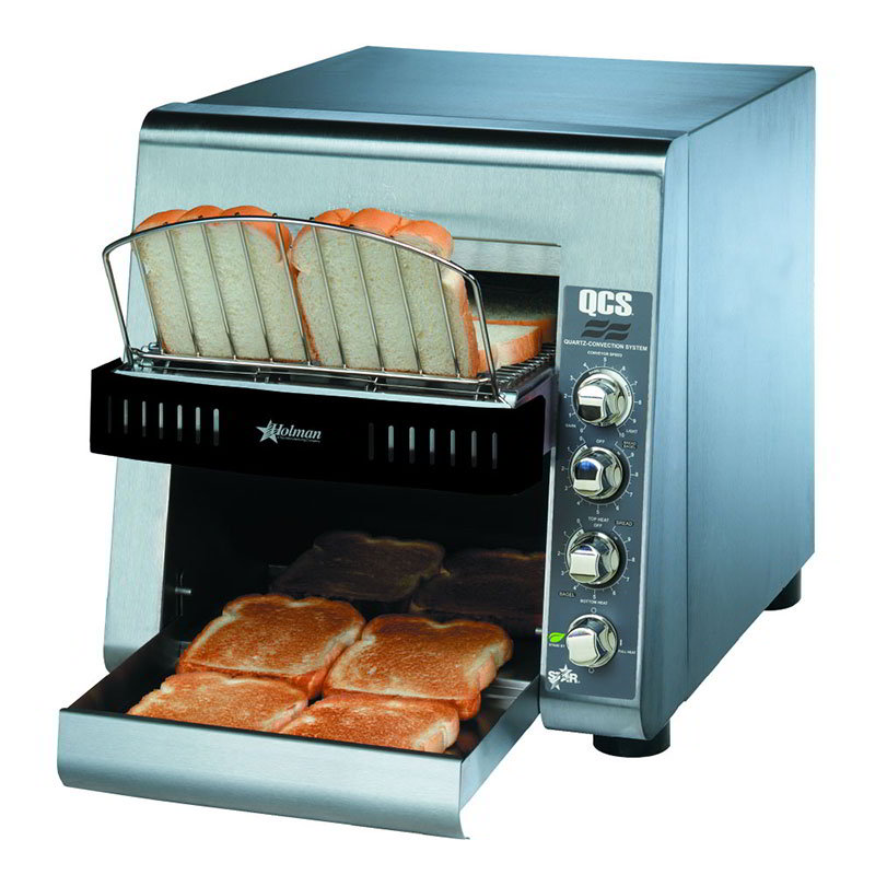 Star QCS2500 Conveyor Toaster w/ 500-Slices/Hr, Stainless, 120v