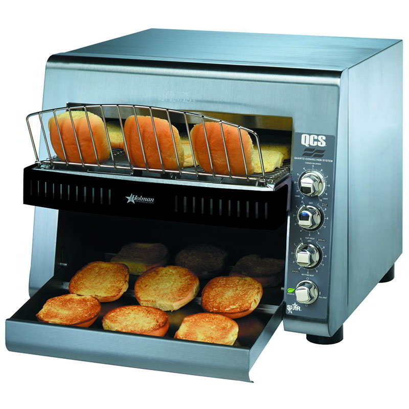 Star QCS3-1400BH 208 Holman QCS Conveyor Toaster, High Volume, 1400 Slices per Hour, 208v
