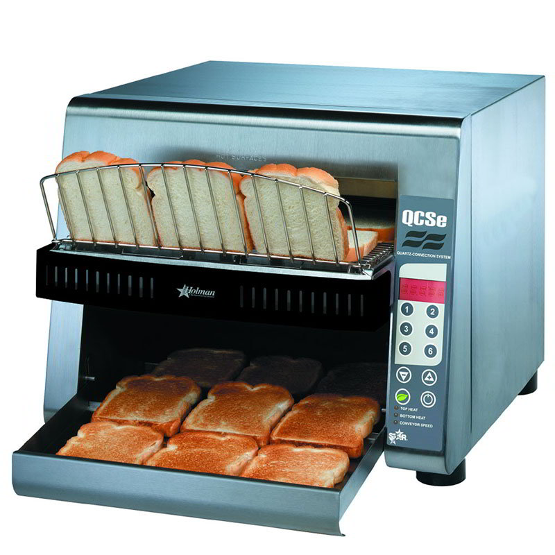 Star QCSE3-1300 Conveyor Toaster, Electronic Controls, 1300 Slices/Hr, 240v
