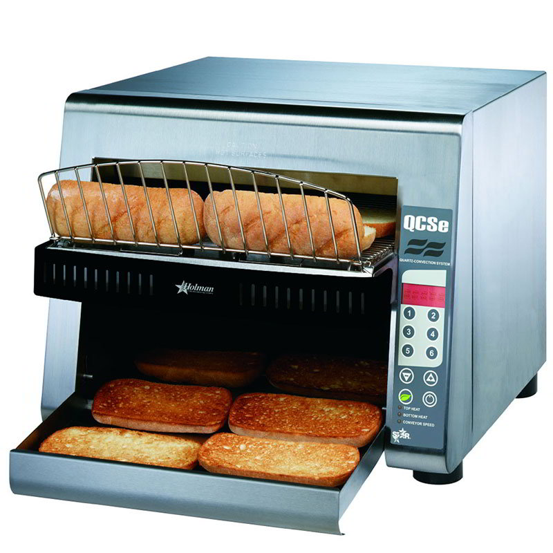 Star QCSE3-950H Conveyor Toaster, Electronic Controls, 950 Slices/Hr, 240v