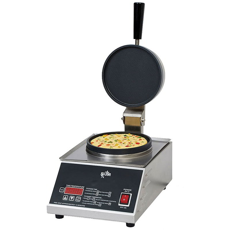 Star SOM7R1E Omelet Maker - Digital Timer, Non-Stick, Stainless 120v