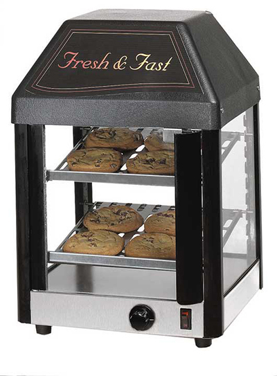 Star Manufacturing 12MCPT Display Merchandiser, Heated, 12-in,  12-Cookies/14- Burritos