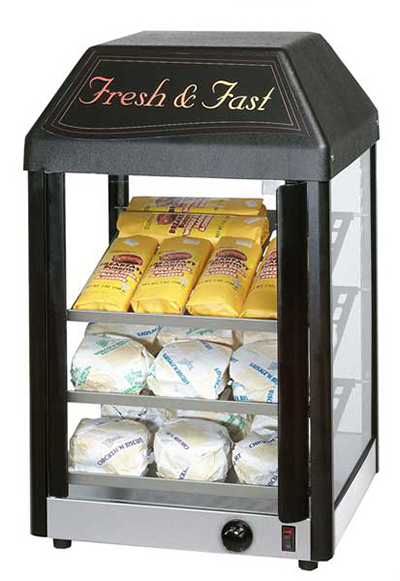 Star Manufacturing 15MCPT Display Merchandiser, 15-in, Heated, 27-Cookies/21- Burritos