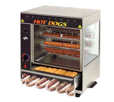 star manufacturing 175cba hot dog broiler w bun warmr cradle type 36 dog 32 bun. Black Bedroom Furniture Sets. Home Design Ideas
