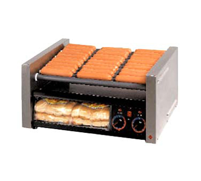 Star Manufacturing 50CBBC 50 Hot Dog Roller Grill w/Bun Storage - Slanted Top, 120v