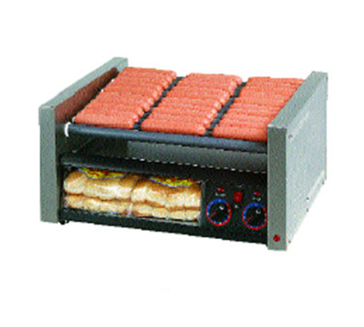 Star Manufacturing 30SCBBC 30 Hot Dog Roller Grill w/Bun Storage - Slanted Top, 120v