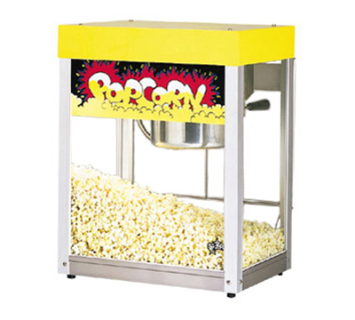 Star Manufacturing 39A Popcorn Popper, 6 oz Kettle, (135) 1oz Servings, Yellow