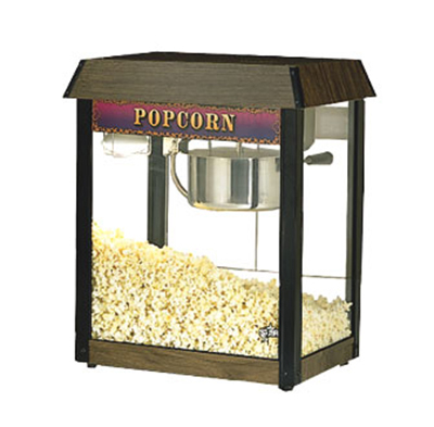 Star Manufacturing 39DA Popcorn Popper, 6 oz Kettle, (135) 1oz Servings, Wood Grain