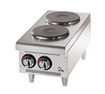 Star Manufacturing 502FF Hotplate - 2-Burners, Drip Pan, Solid French Style Top, Infinite Control