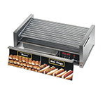 Star Manufacturing 50CBDE 50 Hot Dog Roller Grill w/Bun Storage - Slanted Top, 120v