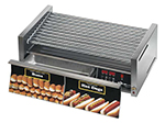 Star Manufacturing 75SCBDE240 75 Hot Dog Roller Grill w/Bun Storage - Slanted Top, 240v
