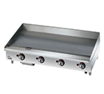 "Star Manufacturing 536CHSF 36"" Griddle - 1"" Chrome Plate, Thermostat Controls, 4"" Legs"