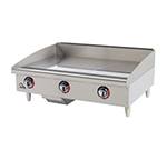 "Star Manufacturing 536TGF 36"" Griddle w/ 1"" Steel Plate, Thermostat Controls, 4"" Legs"