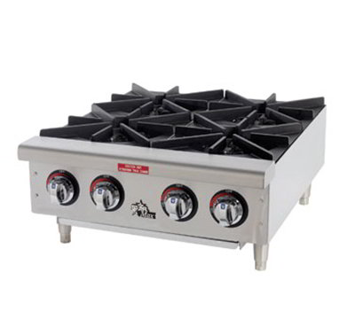 "Star 606HF LP 36"" Hotplate - 6-Burners, Manual Controls, LP"
