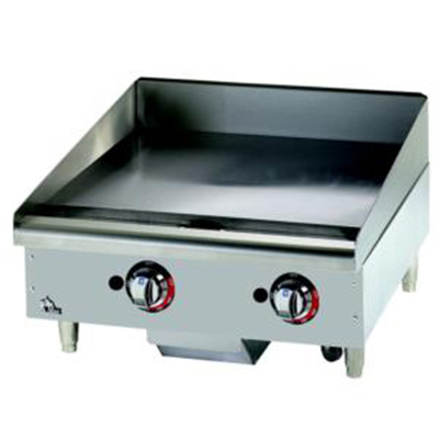 "Star Manufacturing 624TCHSF 24"" Griddle - 1"" Chrome Plate, Thermostat Controls, NG"