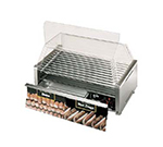 Star Manufacturing 75CBBC240 75 Hot Dog Roller Grill w/Bun Storage - Slanted Top, 240v