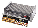 Star Manufacturing 75CBDE240 75 Hot Dog Roller Grill w/Bun Storage - Slanted Top, 240v