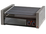 Star Manufacturing 75SCBBC240 75 Hot Dog Roller Grill w/Bun Storage - Slanted Top, 240v