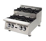 "Star Manufacturing 802HA-SU 12"" Step-Up Hotplate - 2-Burners, Manual Controls, 60000-BTU, NG"