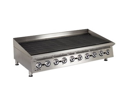 "Star Manufacturing 8060CBA 60"" Lava Rock Charbroiler w/ Manual Controls, NG"