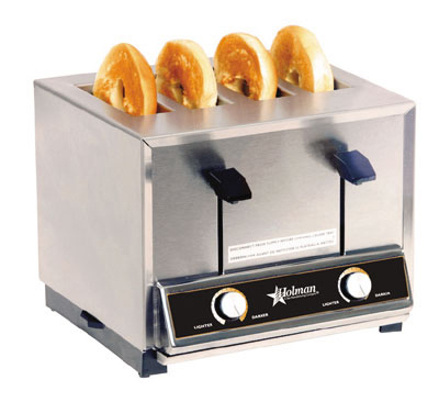 Star Manufacturing BT4120 Toaster, Pop-Up, 4-slot,  Timer, Ceramic Elements, 120 V