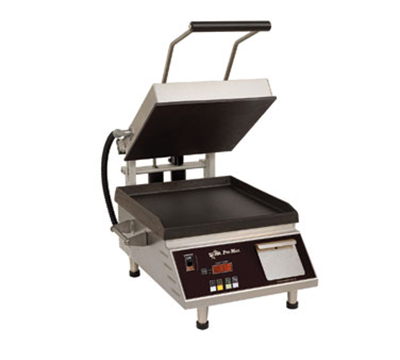 Star Manufacturing GR14IE Panini Grill, 2-Sided w/ Smooth Iron Plates, 14x14-in, 1800-watts, 208/240/1 V