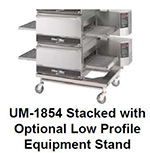Star Manufacturing ESUM1854L Equipment Stand, For Triple Stack Conveyor Gas Ovens