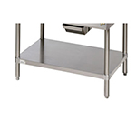 Star Manufacturing ESUM48SF Floor Model Stand, 47 x 24.25 x 22-in, w/ Bottom Shelf, Stainless