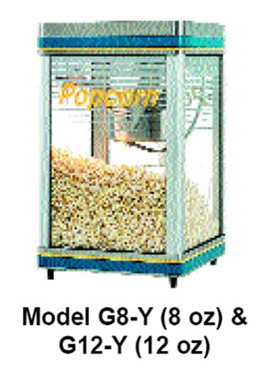 Star Manufacturing G18Y Popcorn Popper - Counter Model, 18-oz Kettle, Infrared Heat Lamp, 240/1V