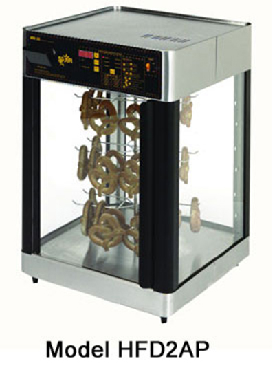 Star Manufacturing HFD2ACR Humidified Display Cabinet, 3-Tier Revolving Circle Rack
