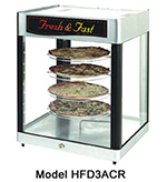 Star Manufacturing HFD3ACR Humidified Display Cabinet, 4-Tier Revolving Circle Rack