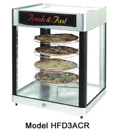 Star Manufacturing HFD3ASPT Humidified Display Cabinet, Pass/See-Thru, 4-Shelf Universal Rack