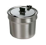 Star Manufacturing SSB11H SS Bowl Inset, W/Hinged Lid, 11 qt, For Star 11RW, 11WL Model Warmers