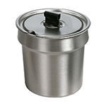 Star Manufacturing SSB7 Stainless Steel Bowl Inset, W/Cover, 7 qt, For Star 7RW Model Warmers