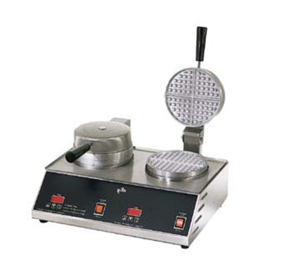 Star Manufacturing SWB7R2E-230 Double Waffle Baker w/ 7-in Round Grid, Export