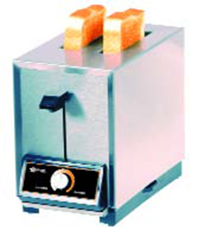 Star Manufacturing T2120 Pop-Up Toaster, 2 Slice Bread or Bagel, Solid State Timer, 120 V