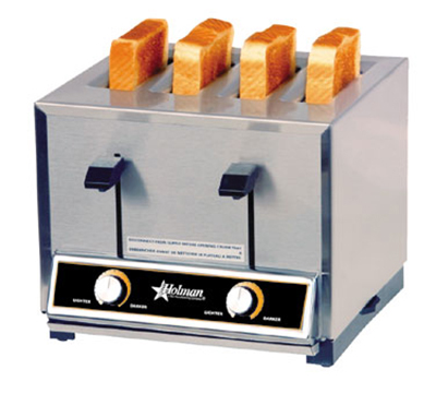 Star Manufacturing T4208240 Pop-Up Toaster, 4 Slice Bread or Bagel, Solid State Timer, 208/240 V