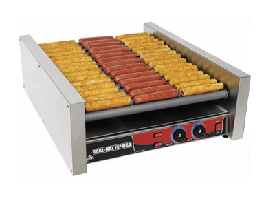 Star Manufacturing X45SG 45 Hot Dog Roller Grill - Slanted Top, 120v